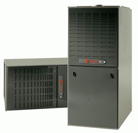 Gas furnace prices. Shown here is a Trane furnace.