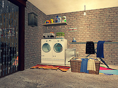 Finish A Basement With A Laundry Utility Room