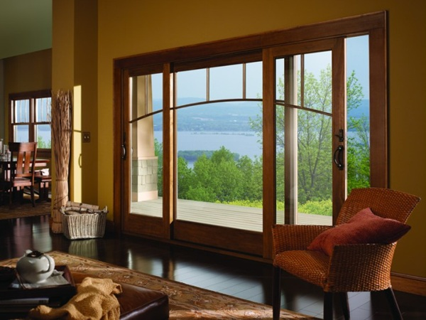 Andersen windows vs pella windows for Non sliding patio doors