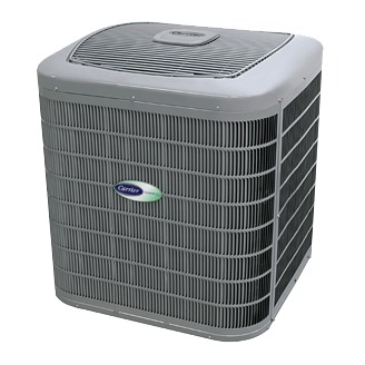 Central air conditioner prices can vary greatly, so there's a model for every home. Shown here is a Carrier Infinity AC unit.