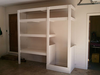 Garage shelving systems an overview of options for Garage built ins