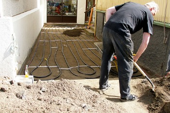 Geothermal heating pipes