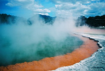 Natural geothermal heating out of New Zealand.