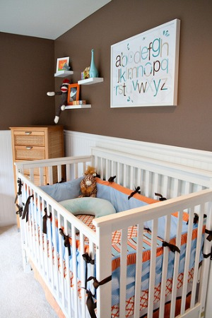 Nursery colors for boys: paint ideas
