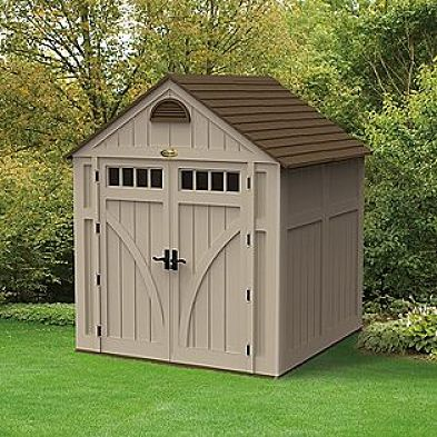 Dan ini build wooden shed 7x7 for Prefab garden buildings