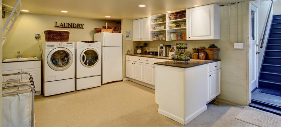 Laundry Room In Finished Bat